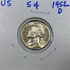 1952-D  Jefferson Nickel  Uncirculated