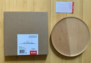New in Box Alessi Tonale Wooden Beechwood Plate Made in Italy