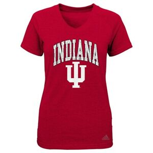"Indiana Hoosiers NCAA Adidas Girls Red ""Inside Pattern"" Triblend T-Shirt"