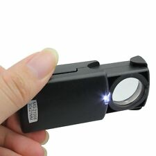 30 Fach Lupe Vergrö�Ÿerungsglas Taschenlupe Leselupe Juwelierlupe Leuchtlupe LED
