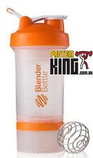 BLENDER BOTTLE PROSTAK 500ML CLEAR ORANGE PROTEIN SHAKER CUP BPA FREE PRO STAK