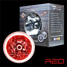 """ORACLE 5.75"""" Sealed Beam Single Headlight + ORACLE Pre-Installed RED SMD Halo"""