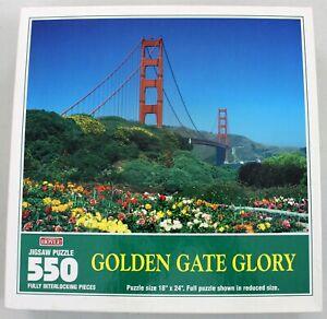 VTG Golden Gate Glory Bridge - 550pc. Jigsaw Puzzle - Hoyle - 18x24in.