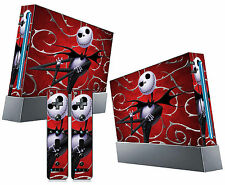 Nintendo Wii Sticker Red Nightmare Before Christmas 02 Jack Skellington Skins