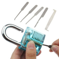 5Pcs Transparent Locks Hooks Unlocking Practice Tools For Training Portable