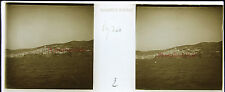 Syra Syros Grèce Stereo Félix Sartiaux 45x107mm Plaque pos ca 1911