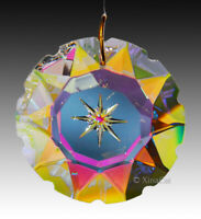 Star Burst Etched Prism 50mm Austrian Crystal Clear AB SunCatcher 2""