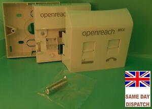 Genuine BT Openreach Master Socket Nte5c MK2 Broadband MK4 Filtered Fplate + Box