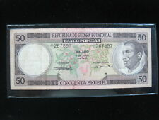 New listing Equatorial Guinea 50 Ekuele 1975 P5 Timber 12# World Currency Banknote Money