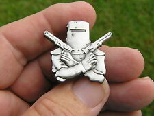 NED KELLY LAPEL PIN ANTIQUE SILVER BADGE *Limited Edition Suit Harley Davidson