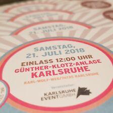 DAS FEST 21.07.18 KARLSRUHE Tickets EINTRITTSKARTEN SAMSTAG
