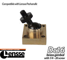 "Lensse DC16 Direct Connect Brass Gimbal Steady-Cam 1/4"" Male Handle Connect New!"