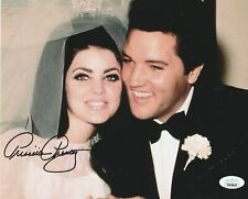 Priscilla Presley Autograph 8x10 Photo Elvis Wedding Signed JSA COA 10