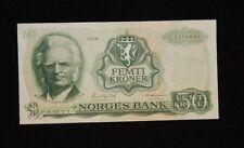 1975 NORWAY 50 KRONER AU/UNC