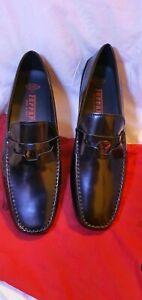 Tod's Ferrari City Gommino Leather Penny Loafers in Black