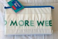 "Standard Pillowcase with Teal Colors Embroidery ""NEED MORE WEEKENDS"" NEW!"