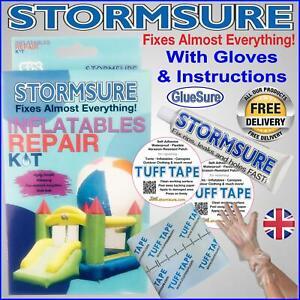 Swimming Pool Leak Repair Kit Hot Tub Paddling Inflatables Airbed Patch & Glue