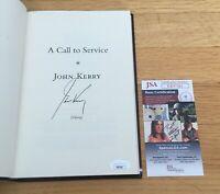 John Kerry Secretary State Senator Signed Autograph Call To Service Book JSA COA