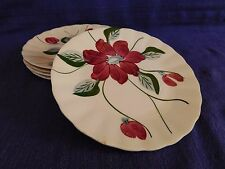 """Blue Ridge Poinsettia 7-1/4"""" SALAD PLATE 1 of 2 available have more items"""