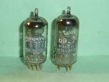 Amperex 6922 E88CC D-Getter Tubes- Matched Pair, Test NOS, 1958