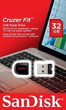 Pendrive USB Sandisk 32 GB Cruzer Fit Memoria Pen Micro Mini Pequeño 8 16 64 128