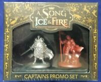 A SONG of FIRE and ICE TABLETOP MINATURES GAME: CAPTAINS PROMO SET CMON SEALED