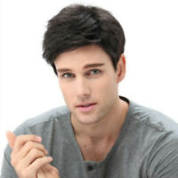 Handsome Quiff Wigs for Men's Male Balcy Short Wavy Hair Wig Cosplay Hair Toupee