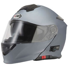 VCAN V271 Blinc Bluetooth 5 Flip up Road Crash Full Face Intercome Helmet X-large Stone Grey