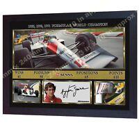 *** F1 Champion Ayrton Senna signed autographed Formula 1 McLaren Honda FRAMED