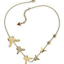 Guess Gioielli Collana Dorata Farfalle Gold Strass Donna Woman UBN41308 Volare