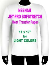 Jet Pro Sofstretch Inkjet Heat Iron On Transfer Paper 11 X 17 200 Sheets