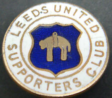 LEEDS UNITED FC Vintage SUPPORTERS CLUB Badge Brooch pin In gilt 20mm Dia