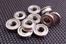 (50 PCS) MF105ZZ (5x10x4 mm) Flanged Metal Shielded Ball Bearing 5*10*4 Bearings