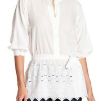 Lucky Brand Women's White Eyelet Detail Tunic Size Small NWT $90