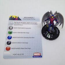 Heroclix Giant Size X-Men set Archangel (Horseman) #049 Super Rare figure w/card