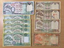 Nepal: 1550 Rupees in banknotes. 1 x 1000 Rupee, 5 x 100, 1 x 20, 3 x 10. NPR