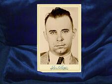 JOHN DILLINGER Infamous Criminal Fugitive Cabinet Card Photo Vintage History CDV