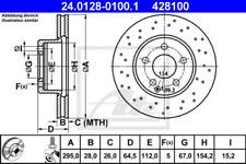 2x Bremsscheibe für Bremsanlage Vorderachse ATE 24.0128-0100.1