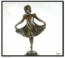 Signed Preiss bronze statue,Young Little deco dancer