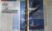 ✚0175✚ German WW2 Navy Kriegsmarine collection in folder BISMARCK BATTLESHIP