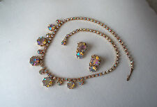 Gorgeous WEISS AB Necklace & Earring Set