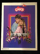 GREASE 2-SEQUEL TO TRAVOLTA MUSICAL-VINTAGE MOVIE PROGRAM-MICHELLE PFEIFFER-1982