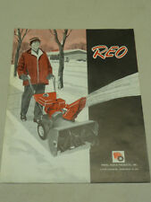 VINTAGE REO by WHEEL HORSE SNOW THROWER SALES BROCHURE, Models: 420 & 626