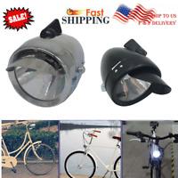 LED Vintage Bicycle Lamp Headlight Accessory Retro Front Light W/ Bracket US