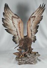 Vintage CAPODIMONTE Viertasca Eagle Statue Figurine No. 1701 #d 572/1000 HUGE!!