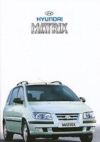 Hyundai Matrix Prospekt 2002 2/02 brochure Autoprospekt broszura broschyr Auto
