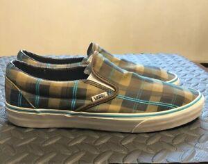 Vans Men's Slip-On Brown Teal Size 12
