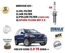 Per VOLVO XC90 2.9 T6 2002 - > Olio Aria Polline 3 KIT FILTRO + CANDELE Set