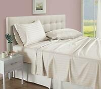 BEST BEDDING COLLECTION 100% Egyptian Cotton 1000 TC USA Sizes Ivory Stripe