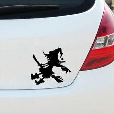 Spooky sorcière pare-chocs décalque autocollant voiture van fenêtre halloween cartoon girl nouveauté